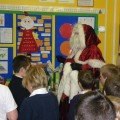 Father Christmas pays a visit