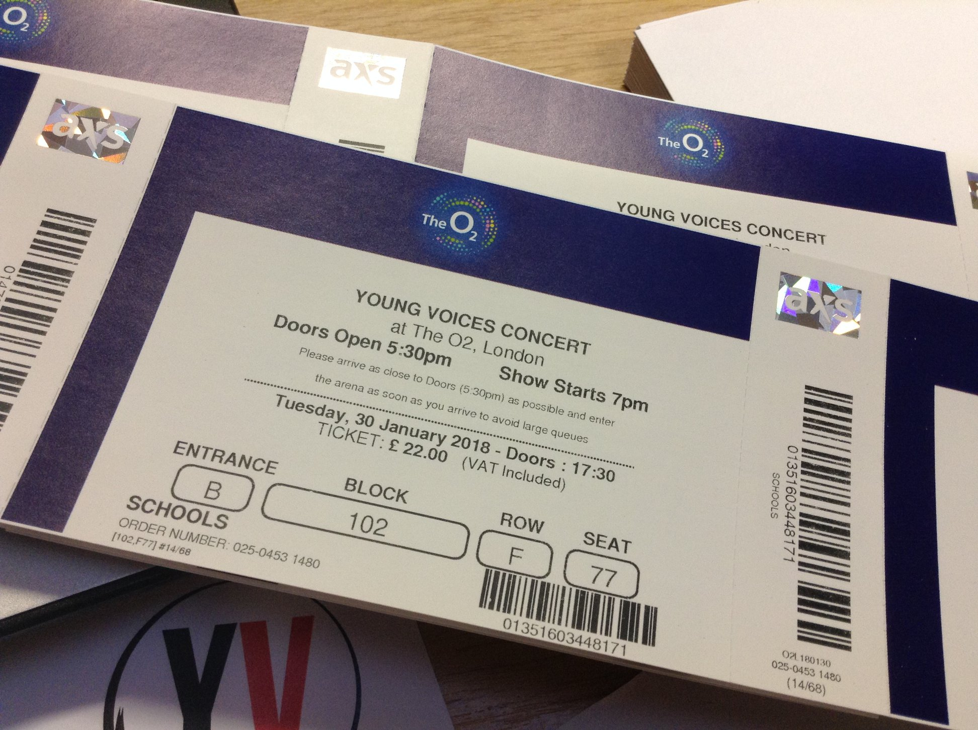 Young Voices: ticket purchase