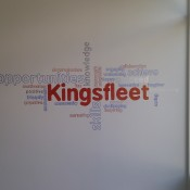 Word cloud in main entrance