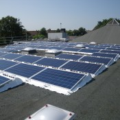 PV panels on the roof